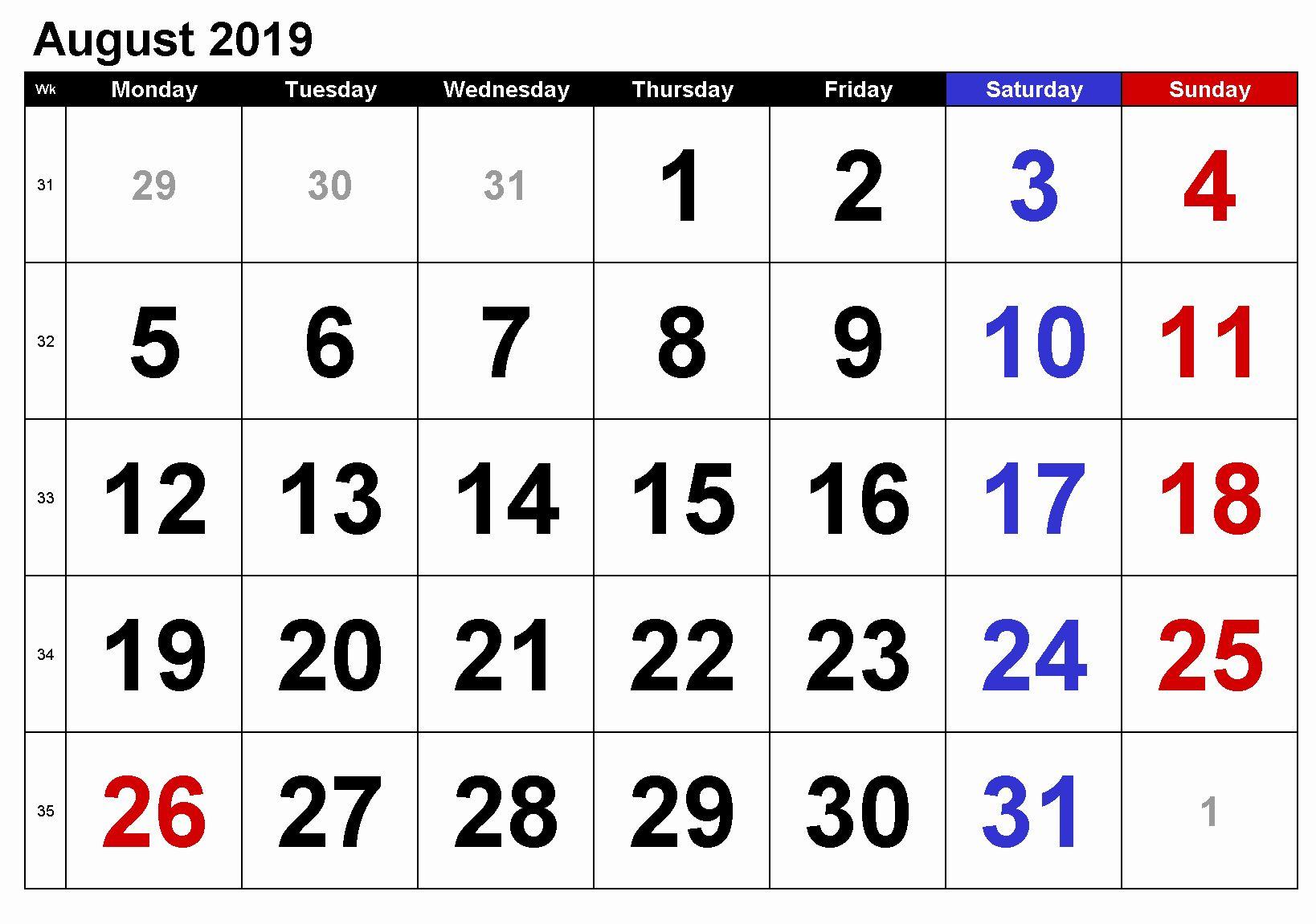 Printable Calendar New Zealand 2019 Di 2020