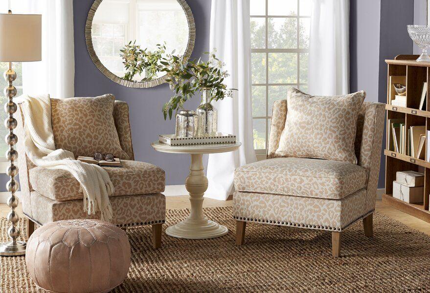 Mistana Kayleigh Slipper Chair Furniture Natural Area Rugs