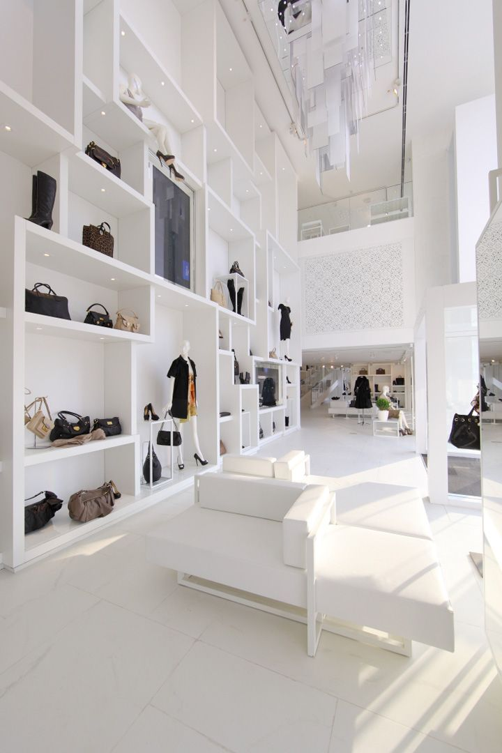 Picture A Flexible Moveable Shelving System Layout Not Look Not White Black Framed Open She Retail Interior Design Showroom Interior Design Retail Design