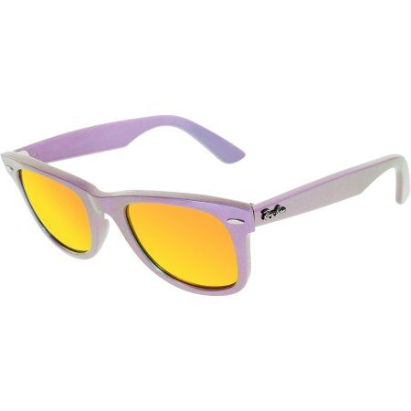 Ray-Ban Men's Wayfarer RB2140-6111/69-50 Purple Wayfarer Sunglasses