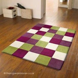 Kerstin Purple Green Rug