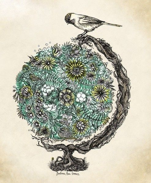 Nature Tattoo Ideas Hippie Tattoo Ideas Nature Tattoos Bird Art Tattoos Illustration