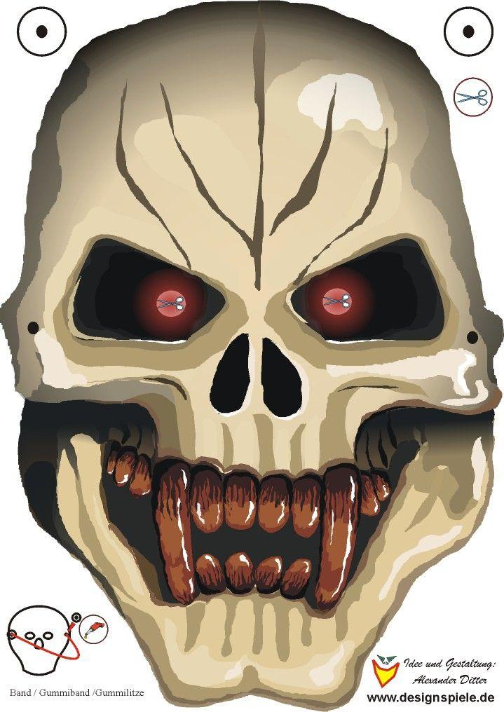 halloween masken zum ausdrucken 01  masken zum ausdrucken