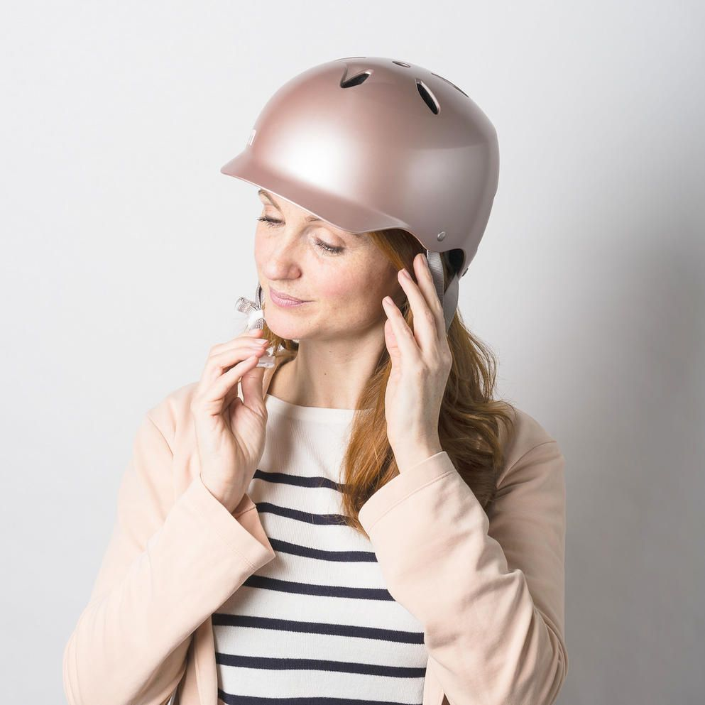 Bern Lenox Eps Ladies Bike Helmet Rose Gold Cyclechic Womens Bike Helmet Bike Helmet