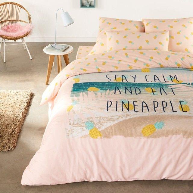 housse de couette ananas folies tendances tropicale housse de couette chambre et deco chambre. Black Bedroom Furniture Sets. Home Design Ideas
