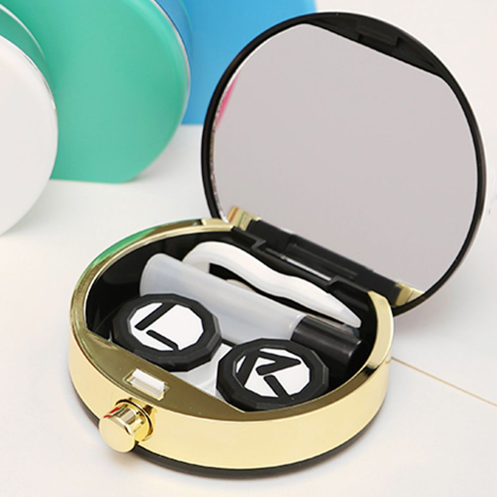 Click To Buy Portable Lovely Contact Lenses Case Mirror Holder Box Bottle Tweezers Travel Kit Affiliate Lens Bag Contact Lenses Case Contact Lenses