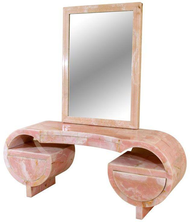 Art d co coiffeuse marbre rose et lucite ann es 30 for Arredamento artistico