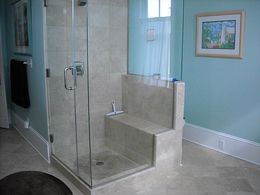 Built In Seat Shower Fitted Bathroom Furniture Modern Bathroom