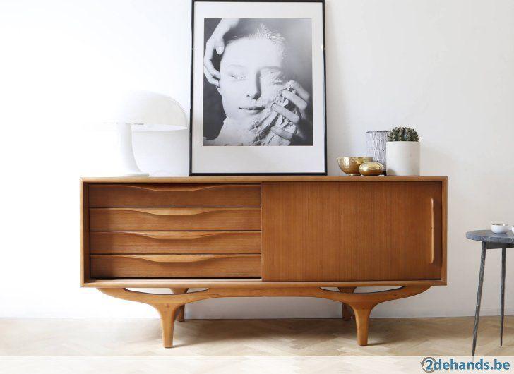 Retro dressoir 140cm vintage jaren 60 jaren 70 nieuw for Vintage meubels