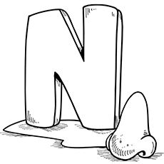 Top 10 Free Printable Letter N Coloring Pages Online Alphabet Coloring Pages Letter N Lettering