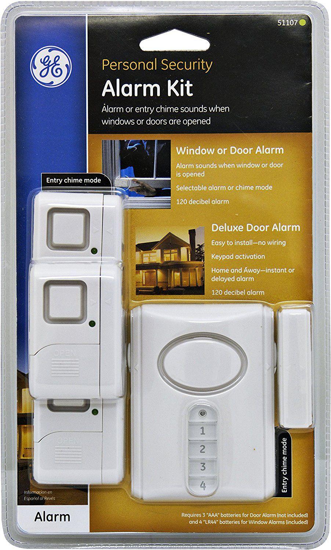 GE Personal Security Alarm Kit, Includes Deluxe Door Alarm with ...