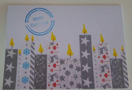 DIY-Party Stamping Weihnachtskarte Kerzen