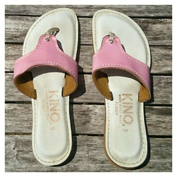 Kino's Key West PINK! Sz 9 Kino's are made by hand in Key West. They almost never have pink. They make whatever they want and there are no requests. People line up before they open and the place is packed all day! Excellent condition. Sorry no trades. Kino Shoes Sandals