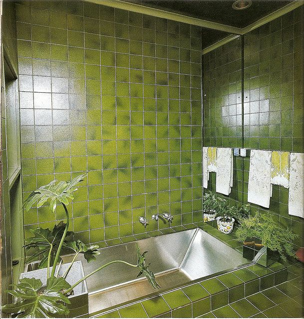 Photo of Happiness is a Green Bathroom.