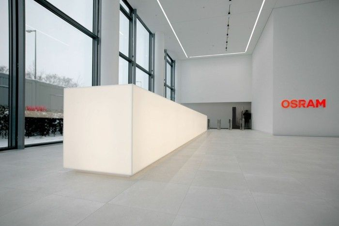 Mineralwerkstoff Hi Macs Osram Gebäude München