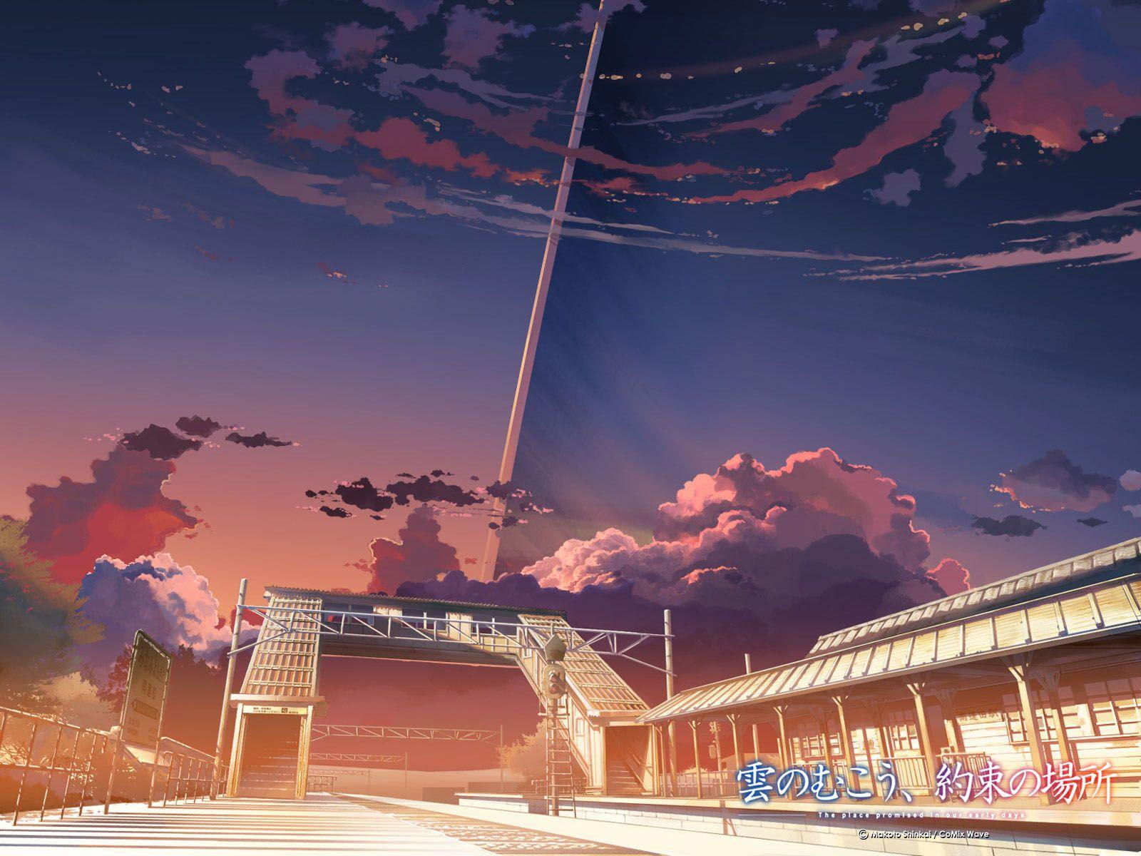 新海誠 壁紙 Google 検索 新海 風景 アニメの風景
