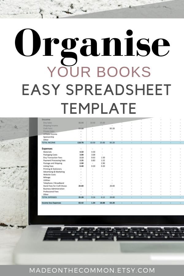 Simple Income And Expense Spreadsheet Bookkeeping Template