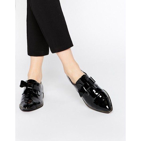 ALDO Gazoldo Black Patent Flat Shoes