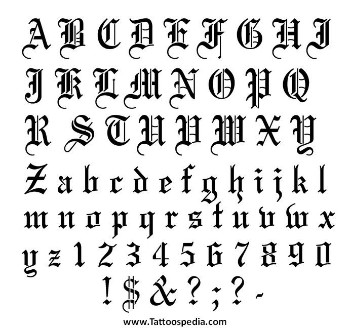 Tattoo Fonts Abc 2