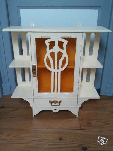 armoire pharmacie ancienne style 1900 art nouveau ameublement seine et marne. Black Bedroom Furniture Sets. Home Design Ideas