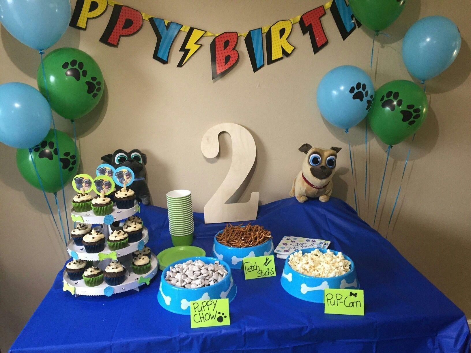 Puppy Dog Pals Themed 1st Birthday Smash Cake Cupcake Cakes Dog Birthday Party Cake