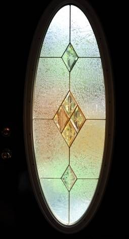 oval shaped curtains for a front door