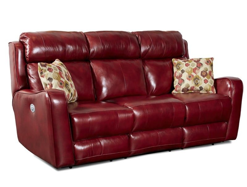 Southern Motion   First Class Power Headrest Double Reclining Sofa With 2  Pillows U0026 IRecliner