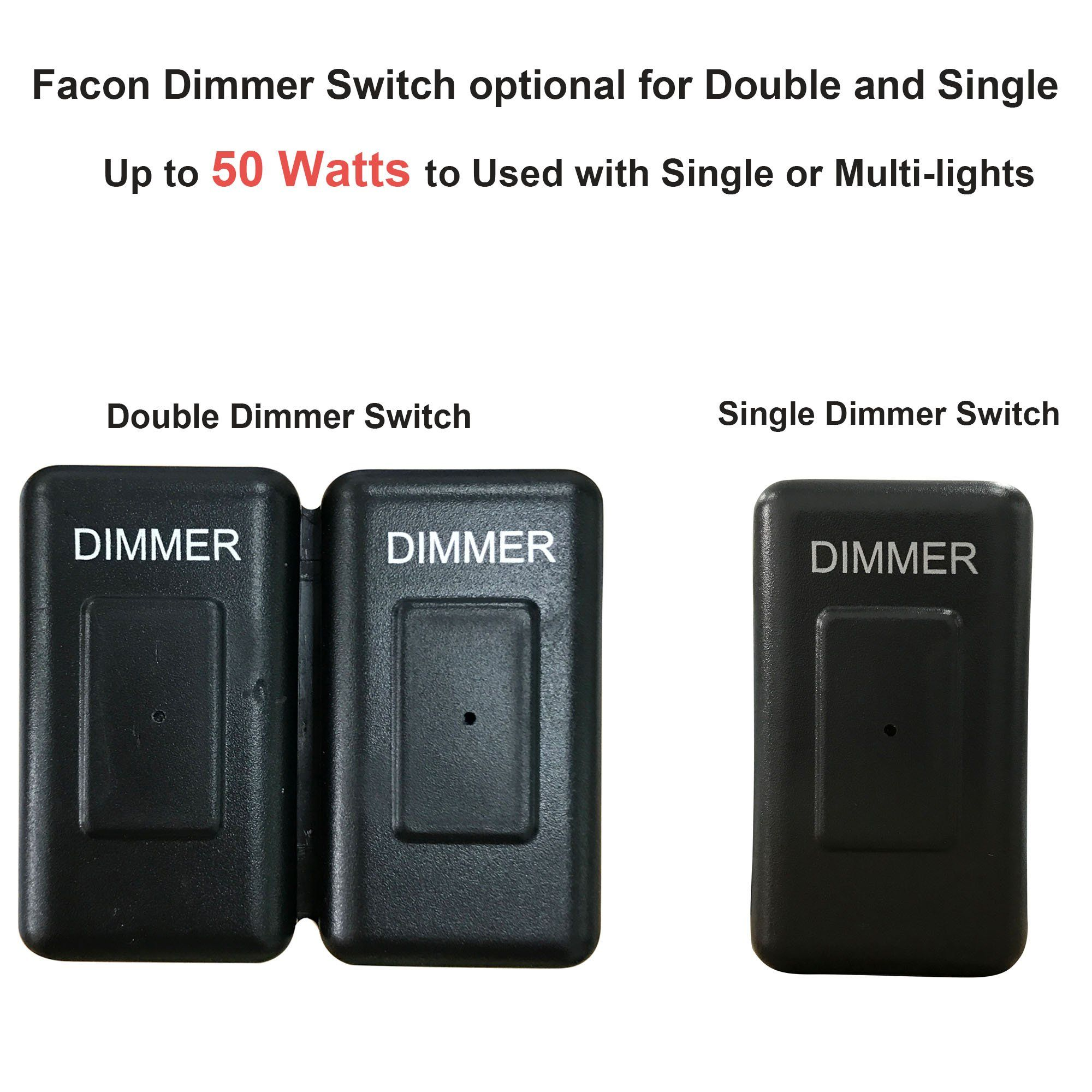 Facon 12volt Dc Touch Dimmer Switch Use With Led Lights Incandescent And Halogen Bulbs For Rv Camper Marine And Strip Li Dimmer Switch Halogen Bulbs Dimmer