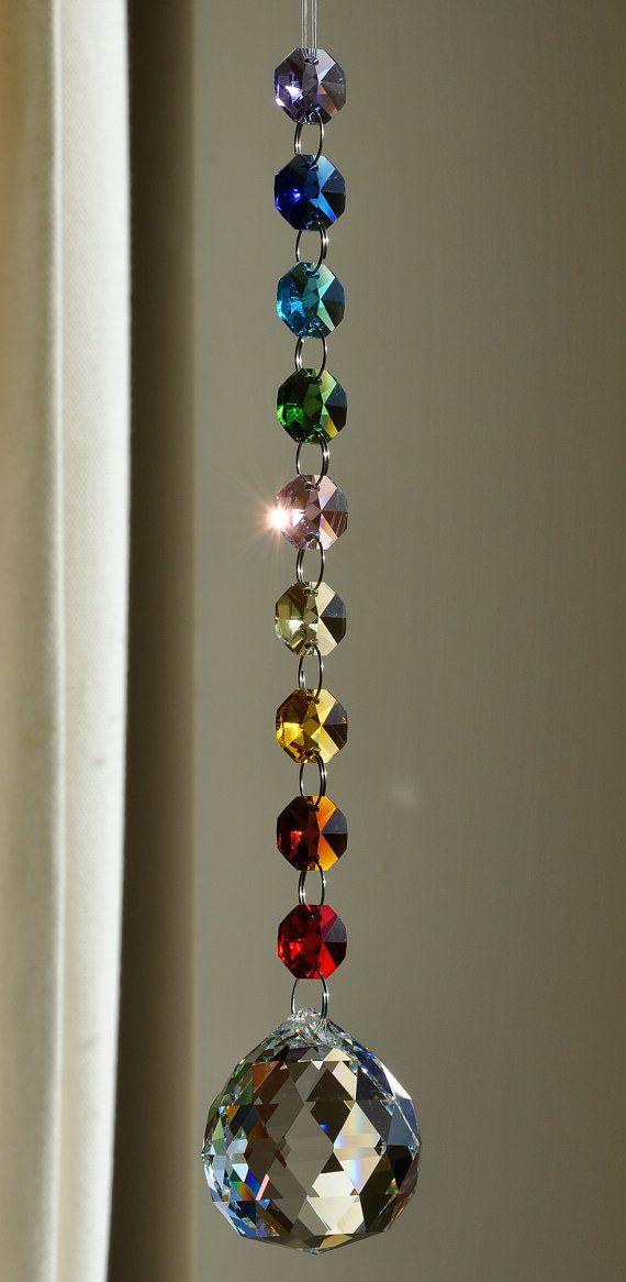 SunriseSunset Crystal Sun Catcher 30 cm Crystal Prism