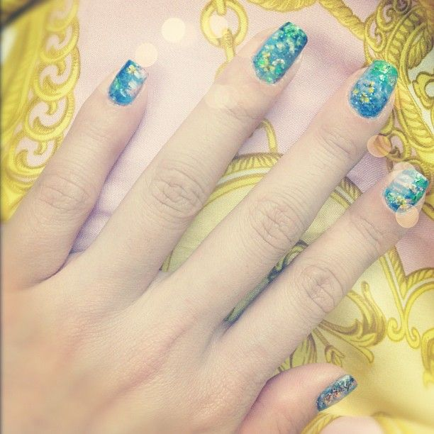 Monet inspired nails by Michelle Phan | Nail obsession | Pinterest ...