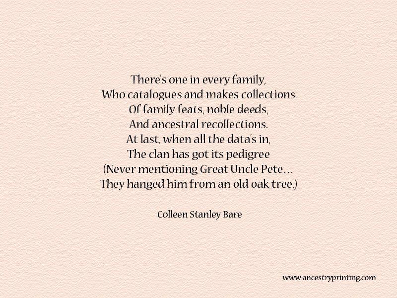 poem Every Family Genealogy Sayings Pinterest Poem