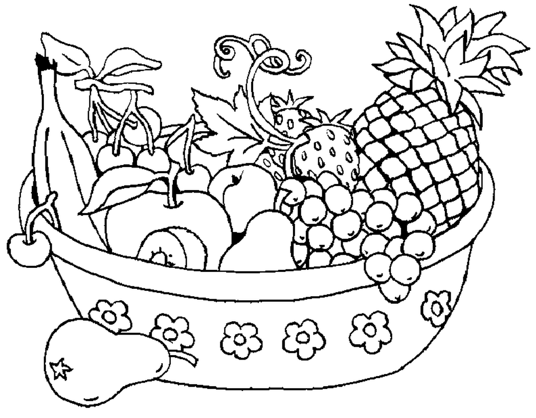 Coloring Book Fruits Vegetables Pineapple Children And Pages ... | 816x1048