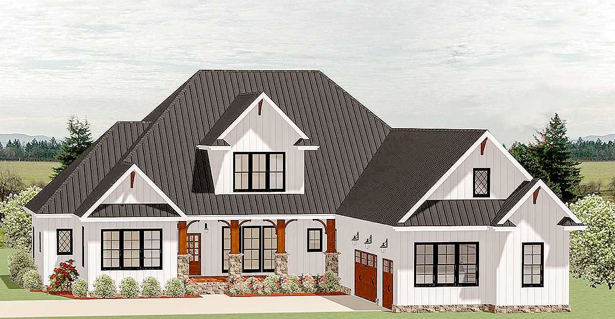 Plan 46325la Country Craftsman House Plan With Optional Second