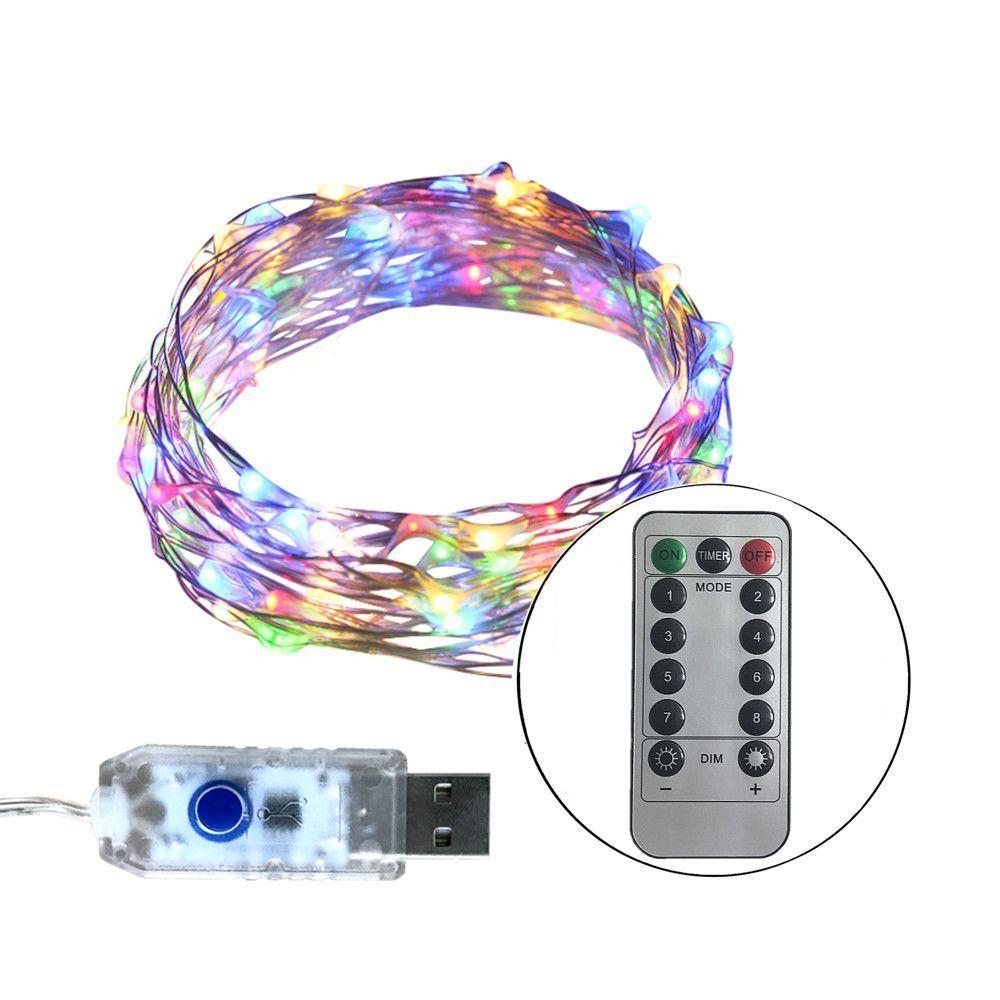 33FT 10 Mt 100 LEDs 5 V LED Lichterketten USB 8 Funktion Splitter ...
