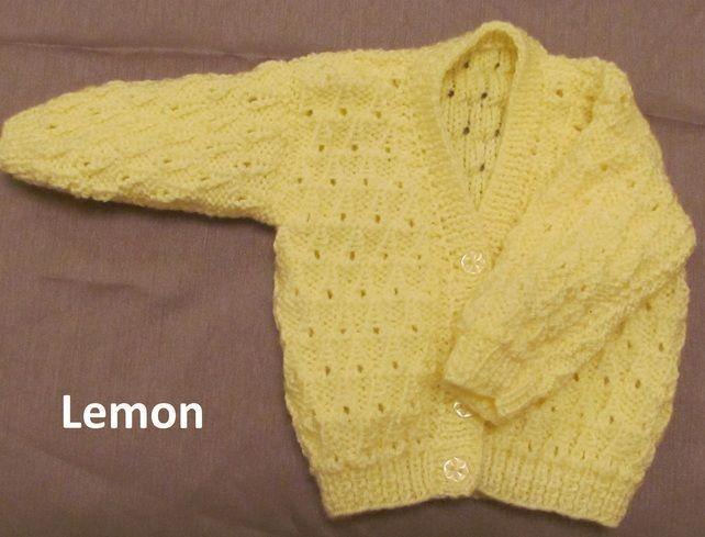 babies cardigans lemon 0-3 months