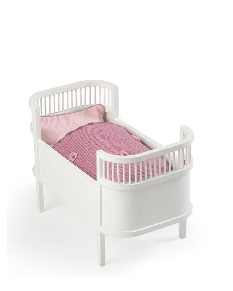 деревянная кроватка для кукол Smallstuff белая игрушки