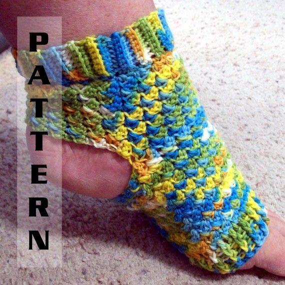 Yoga Socks Ballet Pilates Dance Foot Pedicure Flip Flop - Crochet ...