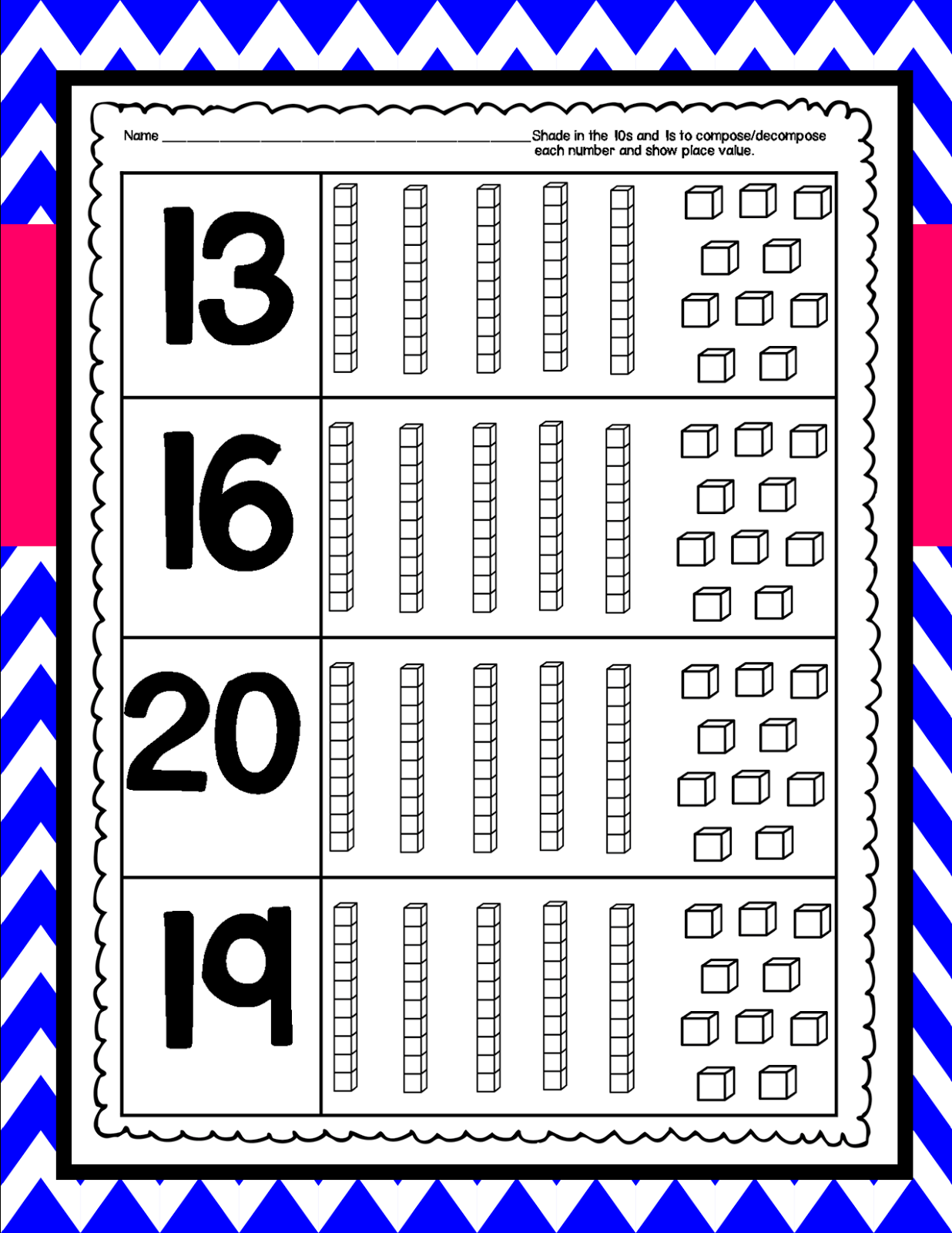 Compose Decompose Numbers And Place Value