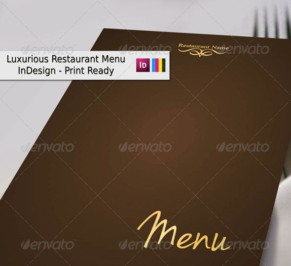 Luxurious Restaurant Menu
