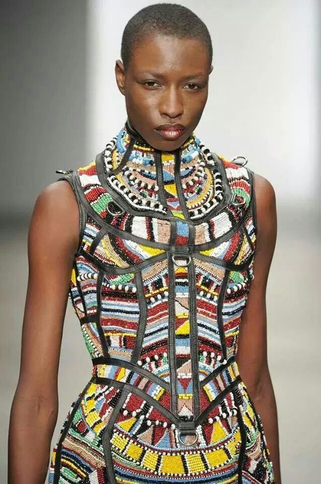Beadwork dress #tribal