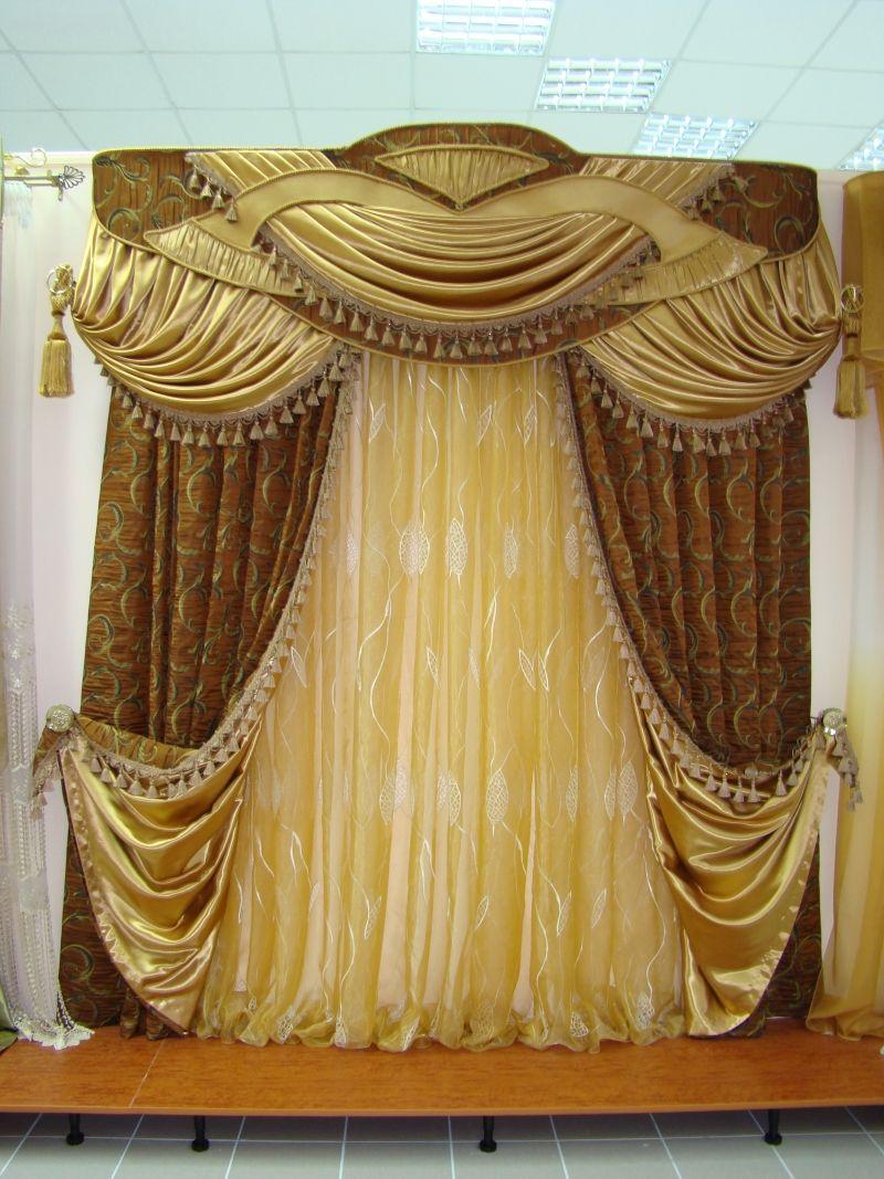 Классические шторы   Classic curtains, Living room decor curtains ...