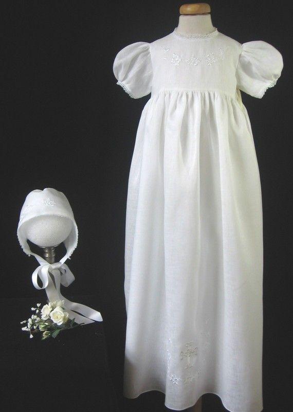 Irish Baptism Gown Christening Gown In Irish Linen With