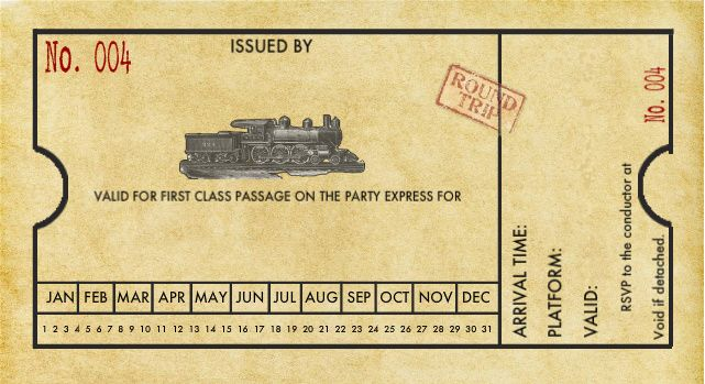 train ticket template printable - Google Search