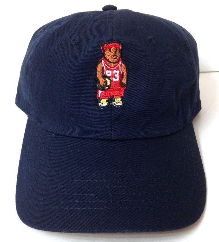 72a199ca8dfffe buy new baller bear hat navy blue unstructured dad cap basketball michael  jordan 23 supply baseballcap