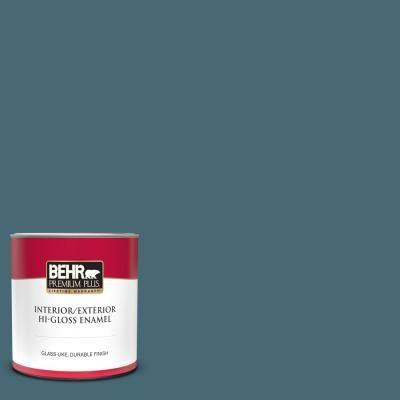 1 Qt S470 6 Shipwreck Hi Gloss Enamel Interior Exterior Paint 830004 Behr Premium Plus Exterior Paint Behr