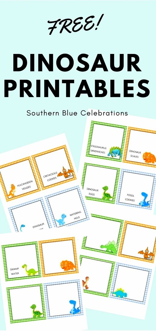 picture regarding Free Printable Food Labels for Party titled Cost-free printable Dinosaur Food items Tent Labels @ Southern Blue