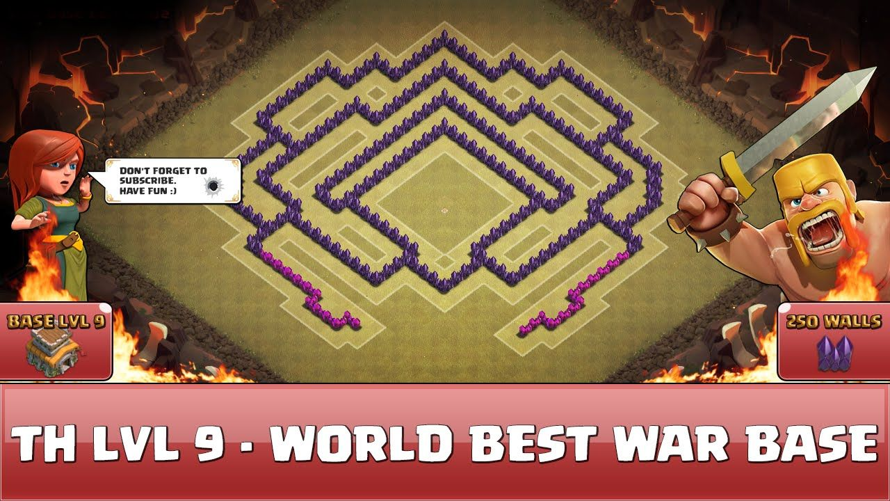 cool Clash of Clans Wall Art – TH 9 – World Best War Base 1 Clash of ...