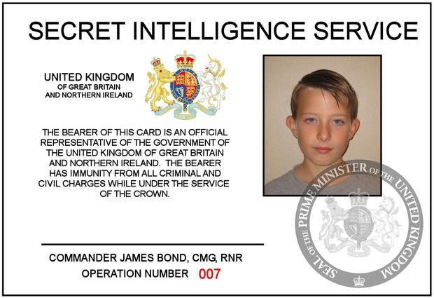 Make Your Own James Bond 007 Id Card Cards James Bond Party Id Card Template