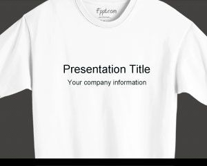 Design Powerpoint Template With T Shirt In The Master Slide Design And Internal Slides T Shirt Design Template Powerpoint Templates Simple Powerpoint Templates
