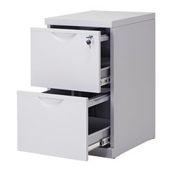 Superbe ALEX Drawer Unit/drop File Storage, White   14 1/8x27 1/